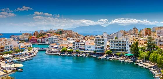 Agios Nikolaos Town on Crete